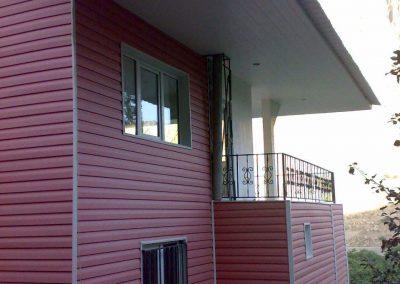اتاقک سبک با پوشش U.pvc  و درب و پنجرهu.pvc